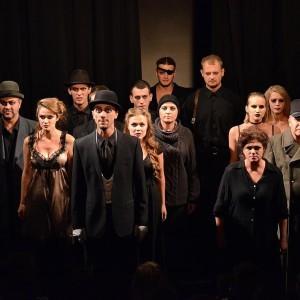 В спектакле немецкого режиссёра занята практически вся труппа.