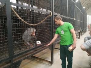 Заведующий отделом «Млекопитающие» Березин Никита Александрович провел увлекательную экскурсию и познакомил гостей зоопарка с питомцами.
