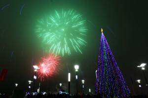 Новый год и Самарской Олимпийской Деревне встретили 20 тысяч человек