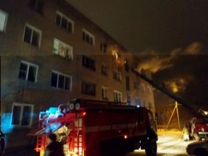 В Сызрани тушили пожар в общежитии, эвакуировали 92 человека Огонь распространился на площади 80 кв. м.