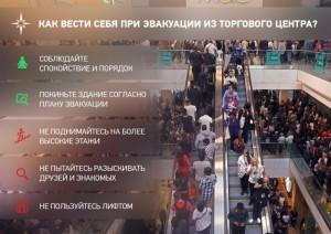 Приходя в торговый центр, нужно обязательно ознакомиться с планами эвакуации – они должны быть на самых видных местах.