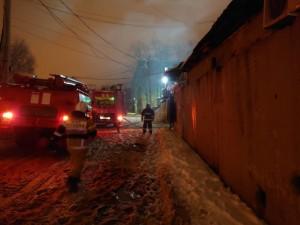 Ночью в Самаре горел гаражный массив Площадь составила 200 квадратных метров.