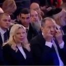 Заплаканной выглядела и супруга израильского премьера Сара Нетаньяху.