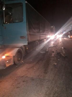 Водитель грузовика «ДАФ» госпитализирован.