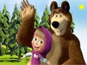 """""""Взрослые и дети тщательно подготовились к национальному веселью и пришли на карнавал в костюмах Маши и Медведя."""""""