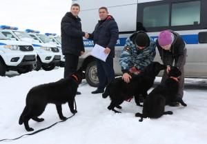 Пятимесячные щенки поступили в Центр кинологической службы на обучение с последующим использованием полицейскими-кинологами при несении службы на объектах транспорта.
