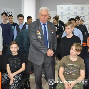 В детском технопарке «Кванториум – 63 регион» состоялась встреча учеников с Геннадием Аншаковым.