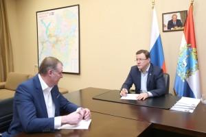 Губернатор Самарской области встретился с главой Борского района
