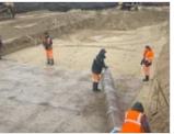 В рамках строительства транспортной развязки будет использовано 9,5 тысяч куб. метров бетона.