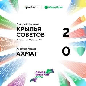 Теперь «Крылья Советов» на первом месте в «Самой быстрой лиге».