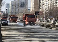 В Самаре началась усиленная санитарная обработка общественных пространств и улиц.