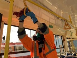 МП ТТУ Самары дополнительно закупило 500 кг специального средства для дезинфекции подвижного состава