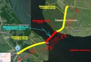 В настоящее время ведутся работы по переустройству коммуникаций, обустройство временных дорог по устройству буронабивных свай береговых опор.
