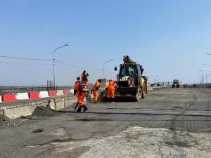 В Самаре продолжается ремонт Смышляевского путепровода
