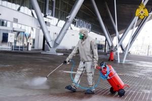 Самарский аэропорт Курумоч обрабатывают от вируса каждый день