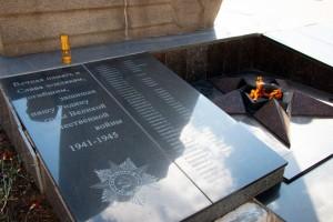 В Жигулевске провели техническое обслуживание мемориала Вечный огонь