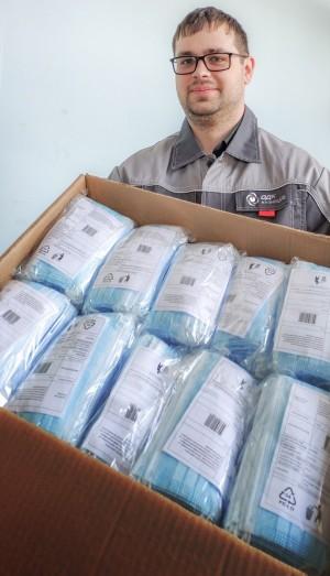 Безвозмездно передав 10 тысяч масок в ГКУ Самарской области «Центр по делам гражданской обороны, пожарной безопасности и ЧС».