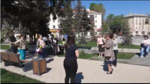 В Самаре прохожие устроили несанкционированный концерт на одной из площадей