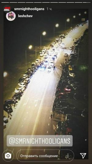 В Самаре любители ночных гонок собрались на ночные заезды