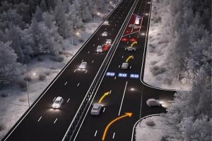 Проект умной дороги разработан специально для беспилотных автомобилей, а первый участок высокотехнологичной трассы презентуют уже в конце мая.