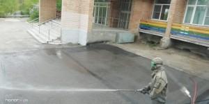 В Самаре проведена санитарная обработка 161 объекта транспортной инфраструктуры и 63 км дорог с твердым покрытием.