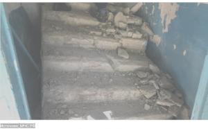 В четырехэтажном доме в Саратовской области рухнула лестница
