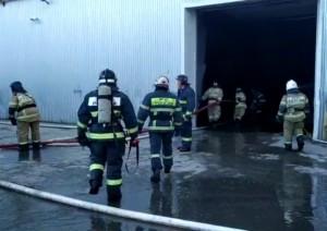 Открытое горение на складе в Самаре ликвидировано