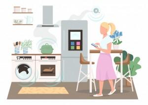 """Пожар произошел из-за """"умного"""" холодильника LG, который самостоятельно перевелся в аварийный режим работы, и от теплого выхлопа компрессора загорелись обои."""