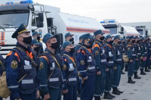 23 мая автоколонна в составе 60 специалистов РХБ защиты и 14 единиц техники выдвинулась из Самары.