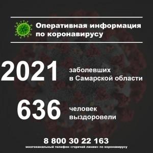В Самарской области за сутки зафиксирован 121 случай заболевания коронавирусом