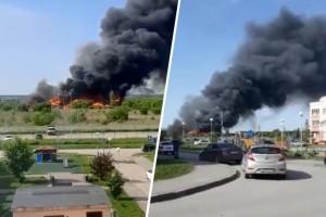 В Самаре крупный пожара у Амбара уничтожил 11 частных домов