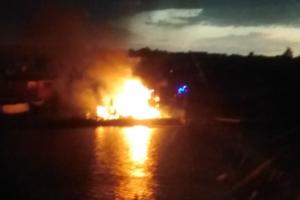 В Самарской области из-за молнии сгорел частный дом