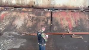 Ранее на территории ТЭЦ машина въехала в резервуар с дизельным топливом и произошел пожар.