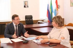 Дмитрий Азаров провел встречу с главой Сызранского района Викторией Кузнецовой.