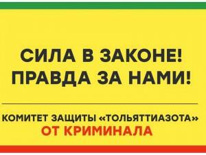 По поводу незаконного вывода денег «Тольяттиазота» через фальшивые стройподряды  подано заявление правоохранительные органы