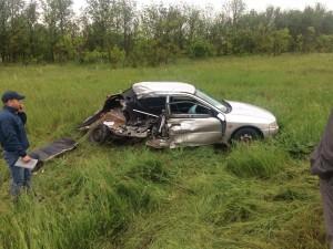 В Самарской области при столкновении на встречке пострадал пассажир