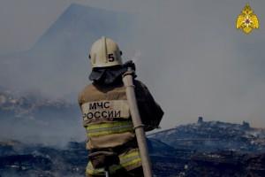 В Отрадном тушили пожар в дачном доме