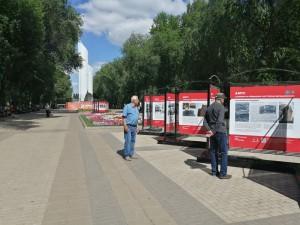На Аллее трудовой славы в Самаре открылась интерактивная выставка, посвященная Безымянке