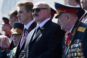На торжественное мероприятие в Россию белорусский лидер приехал с сыновьями.