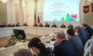 Оргкомитет рассмотрел вопросы реализации плана основных мероприятий по подготовке и проведению празднования 100-летия образования Республики Татарстан.