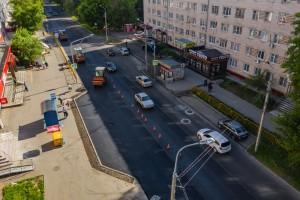 Площадь ремонтируемого участка от улицы Мира до бульвара 50 лет Октября в Центральном районе города составляет 34 тысячи кв.м.