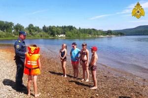 Сотрудники тольяттинского гимс провели занятие с детьми по мерам безопасности на воде