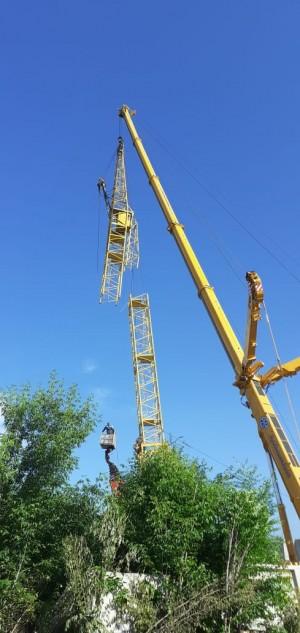 В Тольятти демонтировали опасный башенный кран