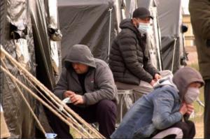 В Большечерниговском районе для граждан Узбекистана вновь построен палаточный лагерь