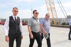 Дмитрий Азаров проконтролировал ход строительства транспортной развязки на трассе М5 в Тольятти