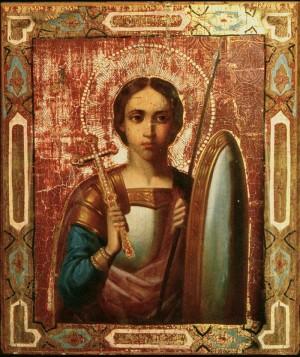 Григорий Журавлев (без рук и ног), буквально держа кисть в зубах, создал 10 нерукотворных икон для сельского храма Святой Троицы.