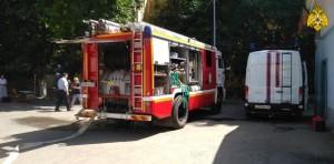 В Самаре тушили крупный пожар в Куйбышевском районе