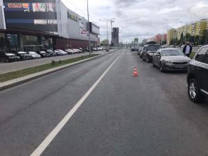 В Самаре на Московском шоссе пешеход попал под машину