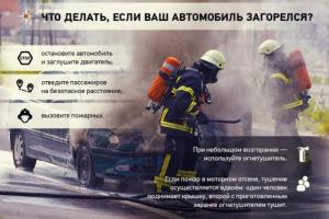 По статистике основная причина «транспортных» пожаров кроется в самих автомобилях - неисправность электрооборудования.