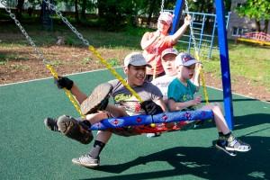 В Самарском пансионате для детей – инвалидов построили инклюзивный игровой комплекс